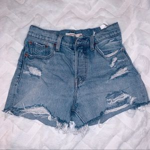 Levi's Destroyed Jean Shorts